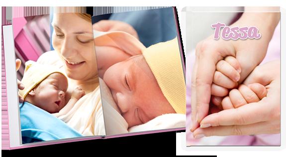 Fotoboek van een baby